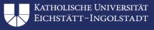Lehrstuhl (W3) für Statistik und quantitative Methoden der Wirtschaftswissenschaften - Katholische Universität Eichstätt-Ingolstadt - Logo