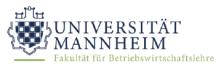 Wissenschaftlicher Mitarbeiter (m/w/d) Business Analytics and Operations Research - Universität Mannheim (UMA) - Logo