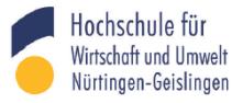 Professur (W2) für Theatertherapie - Hochschule für Wirtschaft und Umwelt Nürtingen-Geislingen (HfWU) - Logo