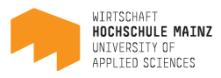 Lehrbeauftragter (m/w/d) Fachgruppe Wirtschaftsrecht - Hochschule Mainz - Logo