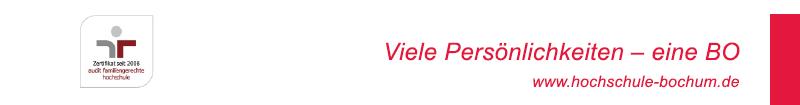 Gesamtprojektkoordinator (m/w/d) - Hochschule Bochum - Footer