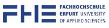 Professur (W2) Digitalisierung für nachhaltige Landnutzung - Fachhochschule Erfurt - Logo