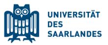 Professur (W3) für Strukturbiologie - Universität des Saarlandes - Logo