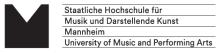 Mitarbeiter (m/w/d) Software- und Anwendungsentwicklung - Staatliche Hochschule für Musik und Darstellende Kunst Mannheim - Logo