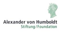 Alexander von Humboldt-Professuren - Alexander von Humboldt-Stiftung - Logo