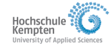 Professur (W2) Smarte Energiesysteme - Hochschule Kempten - Logo