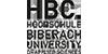 Wissenschaftlicher Mitarbeiter (m/w/d) im Bereich Hochschuldidaktik / Mediendidaktik - Hochschule Biberach - Logo